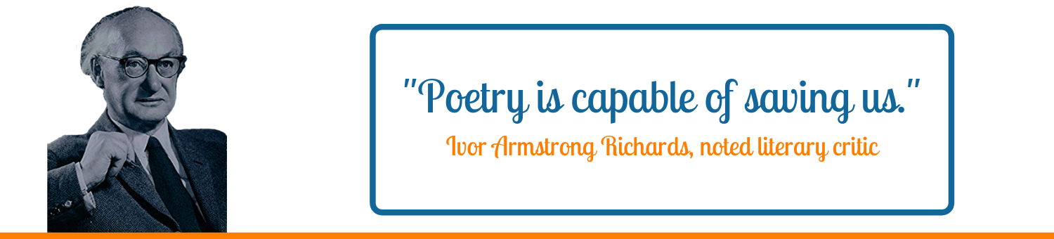 Poetry is capable of saving us I A Richards